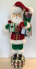 "Christopher Radko Nutcracker Santa NEW Musical 🎶 Lt Ed Peppermint Twist 24½"" 🎅"