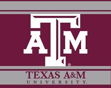 """TEXAS A&M 5"""" X 6"""" STRIPED DECAL-TEXAS A&M AGGIES DECAL STICKER-NEW FOR 2016"""