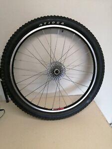 "Mavic F519 26"" Rear Wheel 9 Speed Disc or Rim Brake Shimano XT Hub QR Tioga MTB"