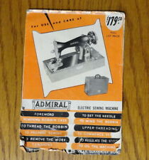 Vintage Admiral Elec. Sewing Machine Use & Care Manual Instructions Booklet/Book