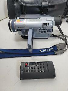 Sony Handycam DCR-TRV330 Digital-8 Camcorder Remote, Power Cable TESTED