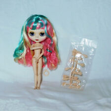Factory Blythe Doll Clone - Long Multi Colorful Hair - BJD body with Extra Hands