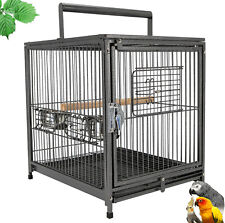 "18""x 14"" x 22"" Portable Heavy Duty Bird Cage Parrot Carrier Metal"