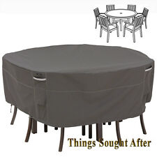 Cover for Large Round Patio Table & Chair Set Outdoor Furniture Picnic Ravenna