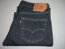 Mens LEVI'S STRAUSS & CO. 501 Dark Blue Denim Jeans W36 L32 Straight Leg Red Tab