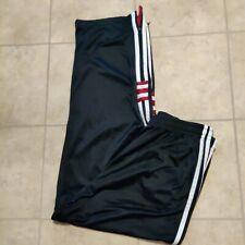 Athletic Works men's XL activewear pants black white stripes side leg zippers