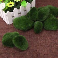 Moss Balls Decorative Stone Artificial Simulation Garden Plant Vase Filler 10Pcs
