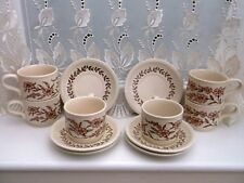 """BILTON VINTAGE/ RETRO 70""""S CUPS AND SAUCERS PINK FLORAL X6 OF EACH"""