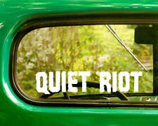 2 QUIET RIOT DECAL Stickers For Car Truck Window Bumper Laptop Jeep