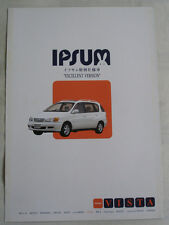 Toyota Ipsum Excellent Version brochure c2000 Japanese text