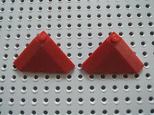 Lego 2 x Dachstein Schrägstein 43708 18° 4x4 dunkelrot 75060 75243 8107