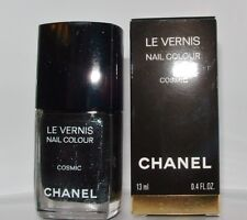 Chanel Vernis Nail Polish COSMIC Black Sparkling Glitter Ltd Ed New in Box