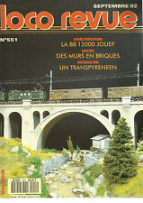 LOCO REVUE N°551 BB 12000 JOUEF/DECOR : MURS EN BRIQUES/RESEAU HO TRANSPYRENEEN