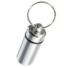 Keyring Tablets Medicine Container Pill Box Aluminium Holder Chain Drug Key M2R9