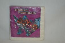 NEW Sealed Vintage 1984 Transformers Robots Hasbro 16 Paper Party Napkins