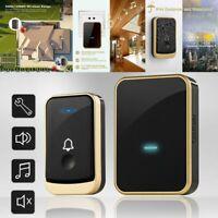 Wireless Digital Music Doorbell Wall Plug-in Door Chime Long Range Waterproof