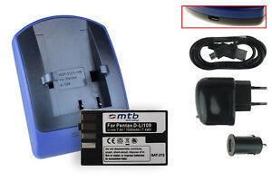 Akku+Ladegerät (USB) D-Li109   für Pentax K-30, K-50, K-500, K-r, K-S1, K-S2
