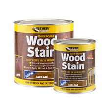 Everbuild 250ml Woodstain Satin Dark Oak