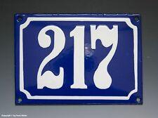 Emaux, E-Mail-numéro de maison 217 in bleu/blanc pour 1955