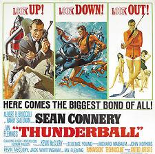007 OPERAZIONE TUONO THUNDERBALL MANIFESTO SEAN CONNERY JAMES BOND