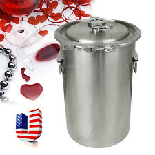 5Gallon Brewing Kettle+Lid Stainless Steel Beer Wine Pot Fermentation Container