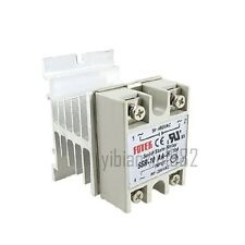 New Solid State Relay SSR-10AA-H AC-AC 10A 80-280V / 90-480V with Heat Sink