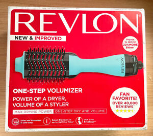 Revlon One-Step Hair Dryer & Volumizer Hot Air Brush Teal/Blue - Box Damaged