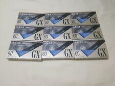 Lot of 9 Akai GX60 High Fidelity Sound Type 2 High Position Chrome High Bias
