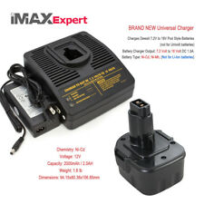 1+1 Combo 12V 2.0Ah Ni-Cd Battery + Charger Dewalt Dc9071 Dw9071 Dw9072 Cordless