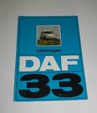 DAF 33 Lieferwagen Prospekt brochure mehrseitig Werbung