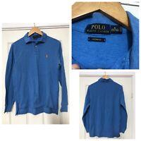 Polo Ralph Lauren Mens Long Sleeve T Shirt Blue Custom Fit Size M (C706)