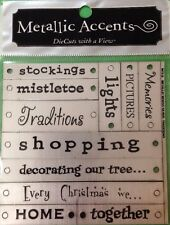 TRADITIONS METALLIC ACCENTS (11pc)DCWV Christmas•Gifts•Holiday Decorating•Santa