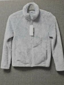 UNIQLO FLUFFY FLEECE ZIPPED JACKET BLUE UK XS RRP £19.99 LN015 DD 08