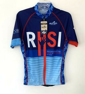 Borah Teamwear Mens Blue Pro Size Large L Cycling Jersey RHSI