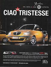 PUBLICITE PRESSE ADVERTISING 2005 COUPURE MAGAZINE - LANCIA YPSILON MOMO DESIGN