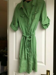 Boden green linen short dress/tunic. Size 16R