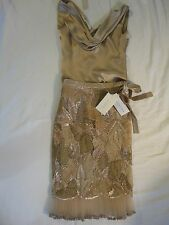 VALENTINO SILK EMBROIDERED SKIRT AND TOP XS, SIZE 2 NWT!