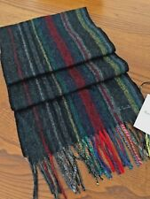 PAUL SMITH 100% LAMBSWOOL MULTI STRIPE COLLEGE SCARF MADE IN ENGLAND