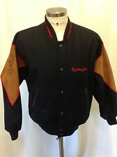 MEN'S 2000 SYDNEY OLYMPICS COAT SUEDE Australia Jacket BOMBER Wool SMALL EUC