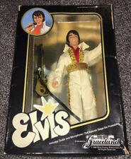 """ELVIS PRESLEY VINTAGE 1984 EUGENE GRACELAND 12 """" DOLL - WITH GUITAR & MIC! RARE"""
