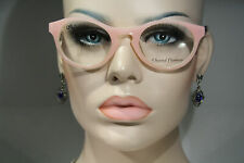 Size Small CHANTAL THOMASS Feminine Pink Glasses Frames Buttons & Stiches Motif