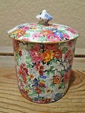 Vintage Lord Nelson Chintz Marina Floral covered Jam Pot