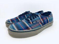 Vans Authentic Tartan Gum Black Classic Skate Shoes Womens Size 8 Mens 6.5 New