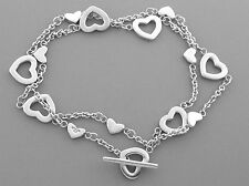 TIFFANY & Co. STERLING SILVER HEART LINK NECKLACE WITH POUCH