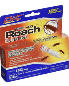 PIC Roach Killer / Cockroach Gel Bait 1 Tube with Plunger and Tips