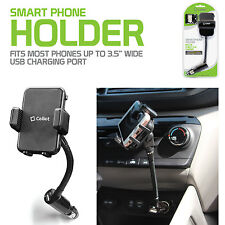 Universal Car Cigarette Port Cell Phone Holder 2.1amp USB Dock for iPhone X 8 7