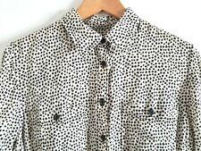 Denim & Supply Ralph Lauren Top Shirt M Medium Star Print Black Cream Long Sleev