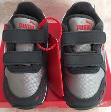 NIB Puma Cabana Racer Mesh V Toddler Shoes Gray US Size 6