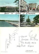 Cartolina saluti da Tuoro sul Trasimeno, vedutine - Perugia, 1968