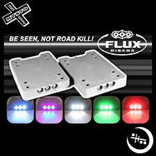 FLUX RISERS - SKATEBOARD RISER WITH LIGHTS SKATE BOARD TRUCKS LEDS LIT RISERS
